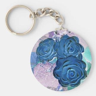 Flower ` s porte-clé rond