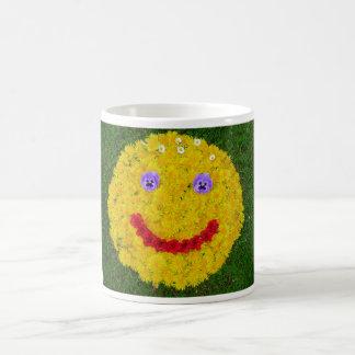 Flower Smiley Mug Blanc