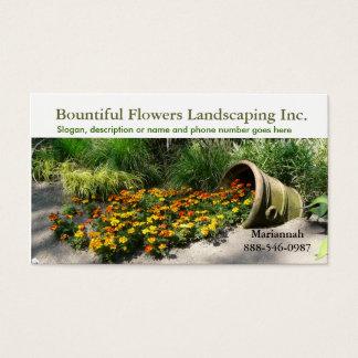 Flowerpot, der Blumen Landschaftsgestalter oder Visitenkarte