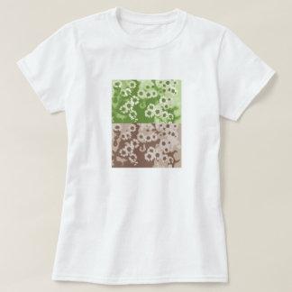 flowers Green Brown T-Shirt