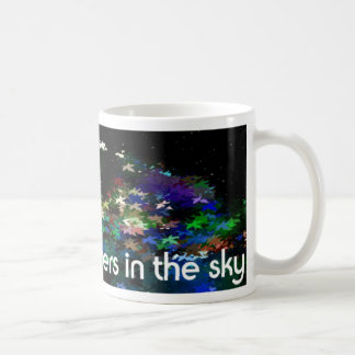 flowers in the sky mug blanc