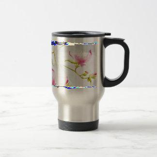 flowers meets geometrics mug de voyage en acier inoxydable