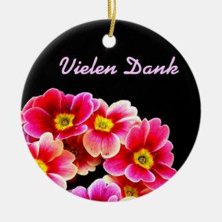 Flowers Rundes Keramik Ornament