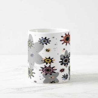 Flowers&splashes Mug Blanc