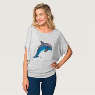 Flowy der Delphin der Frauen Kreis-Spitze durch T-Shirt