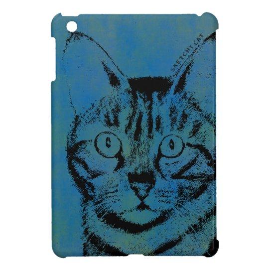 Flüchtige Katze auf Blau iPad Mini Schale