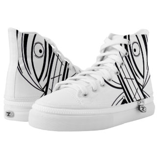 Flüchtiger Blick Hoch-geschnittene Sneaker