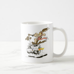 Flüchtiger Blick Wile E. Coyote Crazy Kaffeetasse