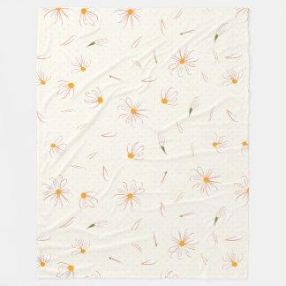 Flüchtiges Gänseblümchen-Blumenmuster - Fleecedecke
