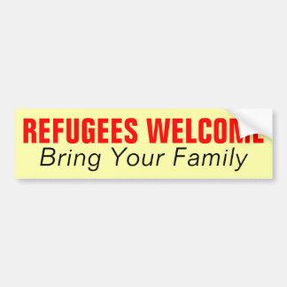 Flüchtlings-Willkommen holen Ihre Familie Autoaufkleber