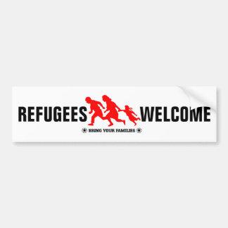 Flüchtlings-Willkommen holen Ihre Familien Autoaufkleber