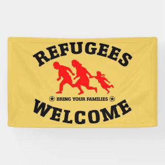 Flüchtlings-Willkommen holen Ihre Familien Banner