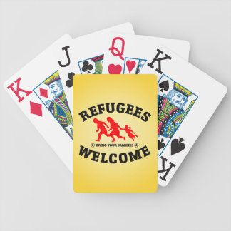 Flüchtlings-Willkommen holen Ihre Familien Bicycle Spielkarten