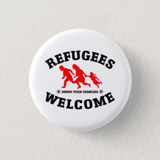 Flüchtlings-Willkommen holen Ihre Familien Runder Button 2,5 Cm