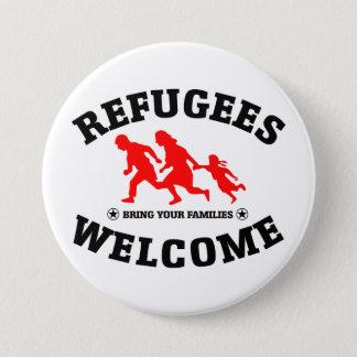 Flüchtlings-Willkommen holen Ihre Familien Runder Button 7,6 Cm