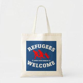 Flüchtlings-Willkommen holen Ihre Familien Tragetasche