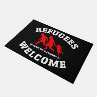 Flüchtlings-Willkommen holen Ihre Familien Türmatte