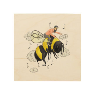 Flug der Hummel durch Nicolai Rimsky-Korsakov Holzdruck