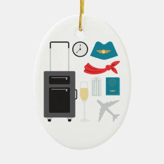 Flugbegleiter Keramik Ornament
