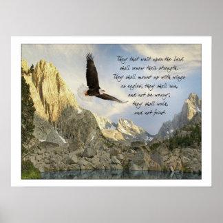 Flügel als 40:31 Eagless Jesaja Poster