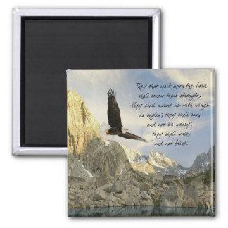 Flügel als 40:31 Eagless Jesaja Quadratischer Magnet