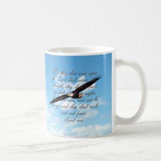 Flügel als Eagles, Jesaja-40:31 christliche Bibel Kaffeetasse