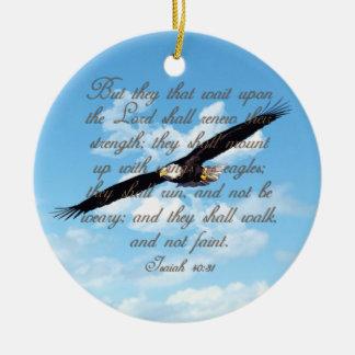 Flügel als Eagles, Jesaja-40:31 christliche Bibel Keramik Ornament