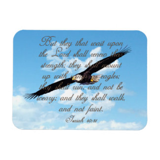 Flügel als Eagles, Jesaja-40:31 christliche Bibel Magnet