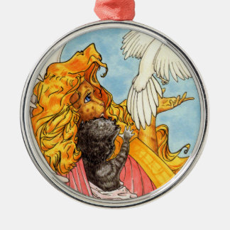Flügel der Liebe Silbernes Ornament