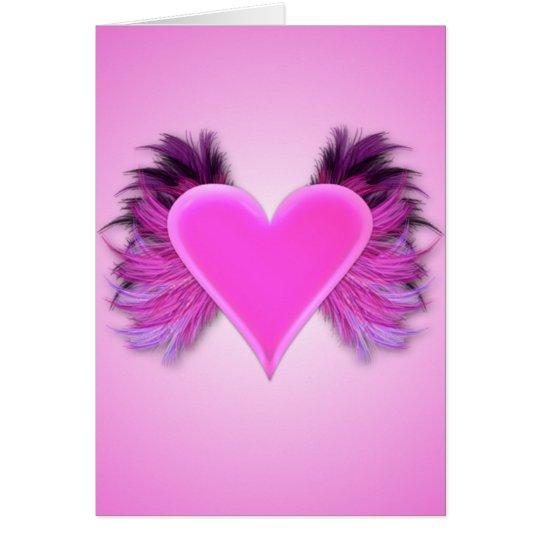 Flügel der Liebe-Valentinstag-Karte Karte