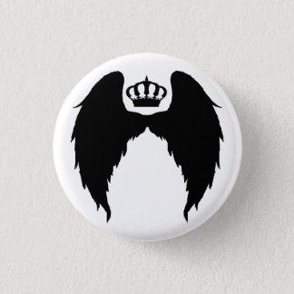 Flügel und Kronen-Flair Runder Button 3,2 Cm