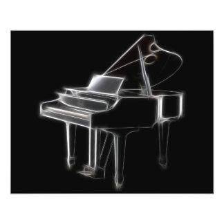 Flügels-klassisches Musikinstrument Vollfarbige Flyer