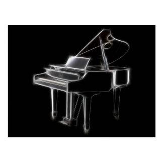 Flügels-klassisches Musikinstrument Postkarte