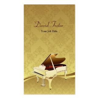 Flügels-Musikinstrument-eleganter Golddamast Visitenkarten