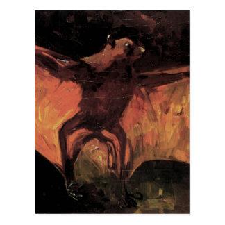 Flughund durch Vincent van Gogh Postkarte