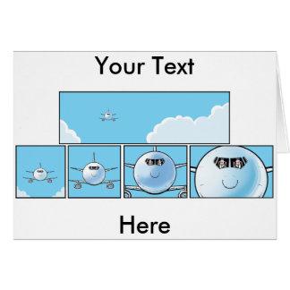 Fluglinie steuert Cartoon-Gruß-Karte Grußkarte