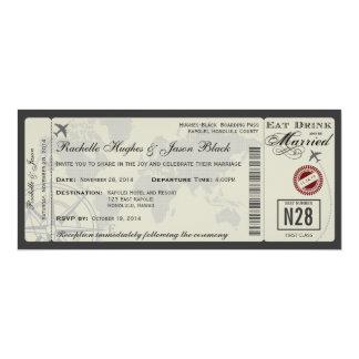 Flugticket-Hochzeits-Einladung Karte