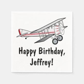 Flugzeug-alles- Gute zum Geburtstagname Papierservietten