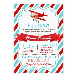 Flugzeug-Babyparty-Einladung 12,7 X 17,8 Cm Einladungskarte