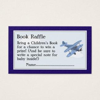 Flugzeug-Buchraffle-Karten, Babyparty-Spiel Visitenkarte