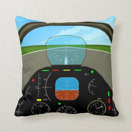 flugzeug cockpit kissen kissen zazzle. Black Bedroom Furniture Sets. Home Design Ideas