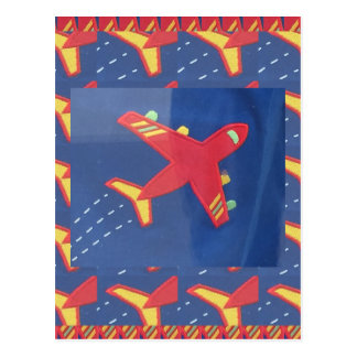 Flugzeug-Flugzeug-Flug-Reise-Picknick-Feiertage Postkarte