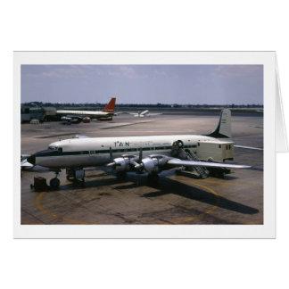 Flugzeug-Gruß-Karte Karte