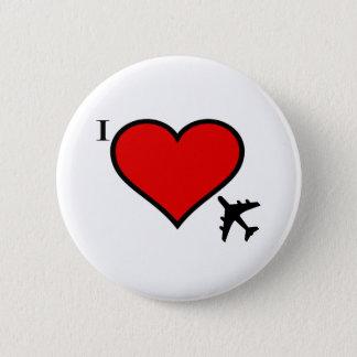 Flugzeug-Liebe Runder Button 5,1 Cm