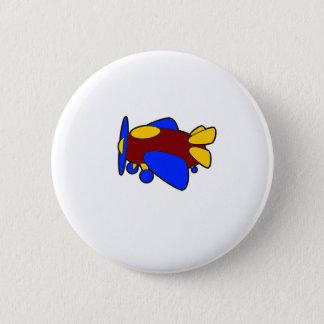 Flugzeug-niedliches buntes Cartoon-Flugzeug Runder Button 5,7 Cm