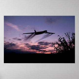 Flugzeug-Plakat
