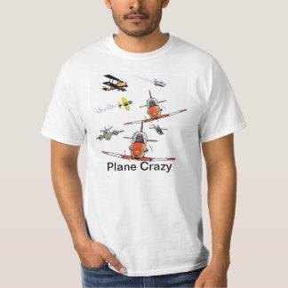 Flugzeug-verrücktes Cartoon-Luftfahrt-Spaß-Shirt T-Shirt