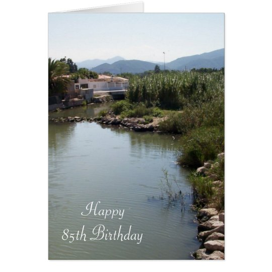 Fluss-85. Geburtstag Karte