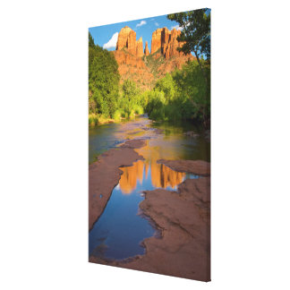 Fluss an der roten Felsen-Überfahrt, Arizona Leinwanddruck