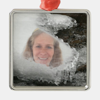 Fluss-Eiszapfen-Foto-Rahmen Silbernes Ornament